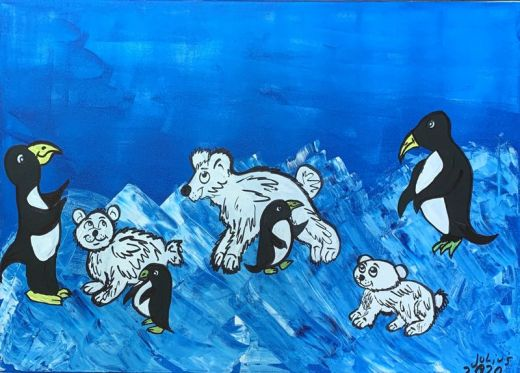Eisbären und Pinguine